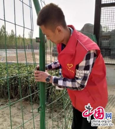 衡水武邑县志愿者在动物园义务服务七天